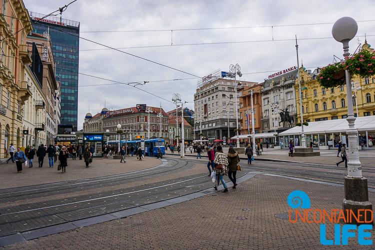 City Square, exploring central Zagreb, Croatia, Uncontained Life