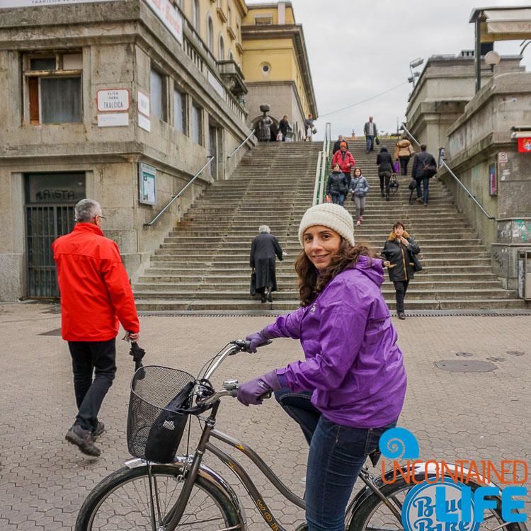 Blue Bike, exploring central Zagreb, Croatia, Uncontained Life