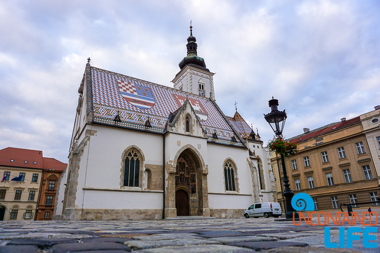 St. Mark's Church, exploring central Zagreb, Croatia, Uncontained Life