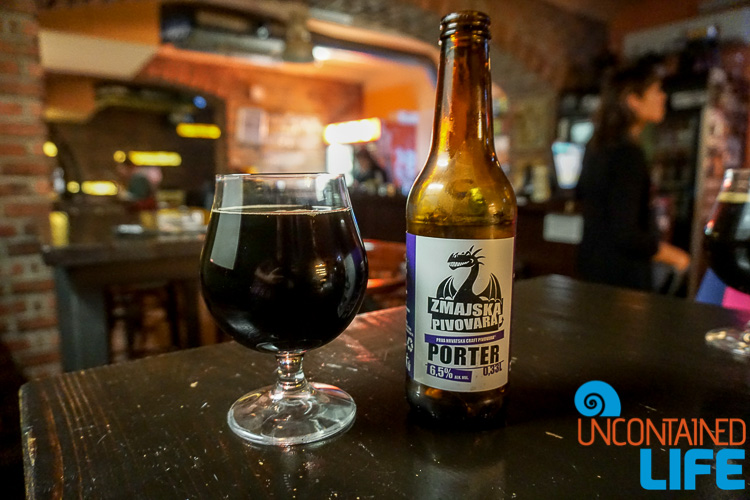 Zmajska Beer Porter, Beertija,Croatia, exploring central Zagreb, Uncontained Life