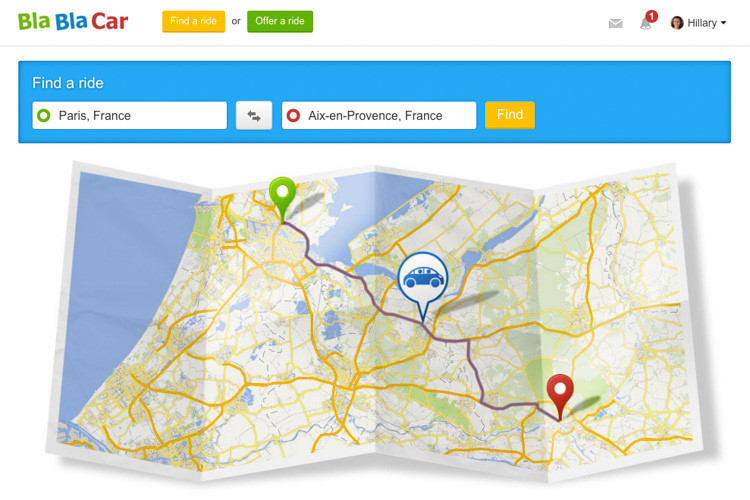 Blablacar for Ridesharing, Uncontained Life