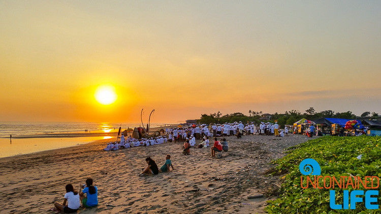 Temple Anniversary Celebration, Hindu, Sunset, Beach, Explore Canggu, Bali