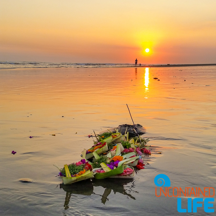 Hindu Offering, Beach, Sunset, Explore Canggu, Bali