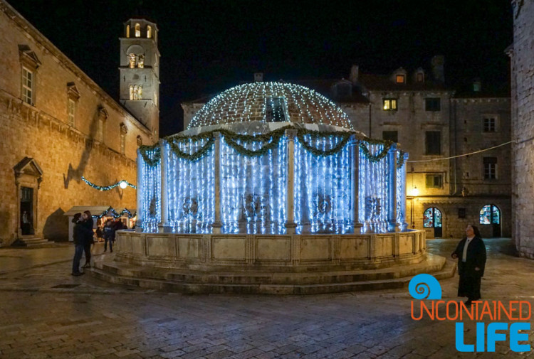 Fountain, Christmas in Dubrovnik, Croatia, Uncontained Life