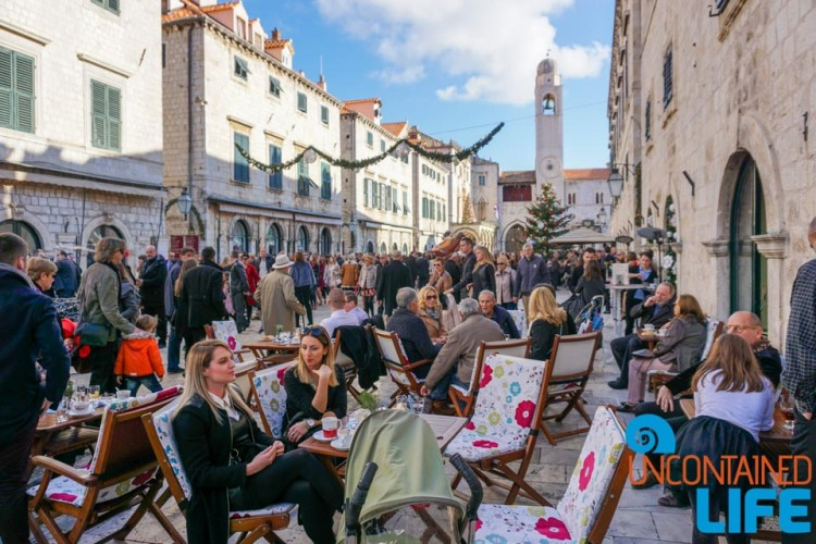 Dining, Christmas in Dubrovnik, Croatia, Uncontained Life