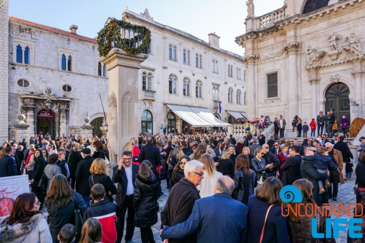 Crowd, Christmas in Dubrovnik, Croatia, Uncontained Life