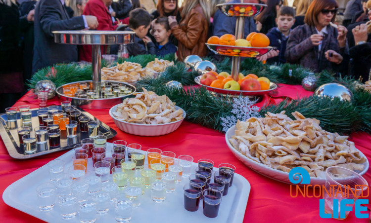 Traditional Food, Christmas in Dubrovnik, Croatia, Uncontained Life