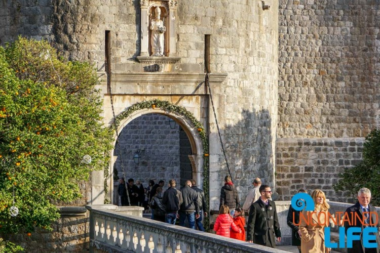 Gate, Christmas in Dubrovnik, Croatia, Uncontained Life