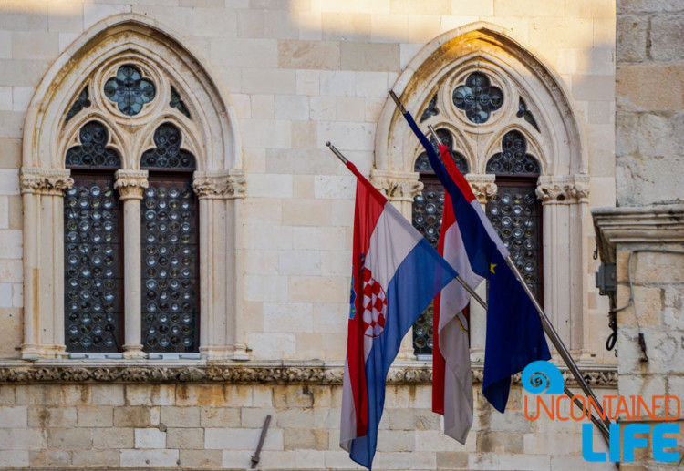 Flags, Christmas in Dubrovnik, Croatia, Uncontained Life