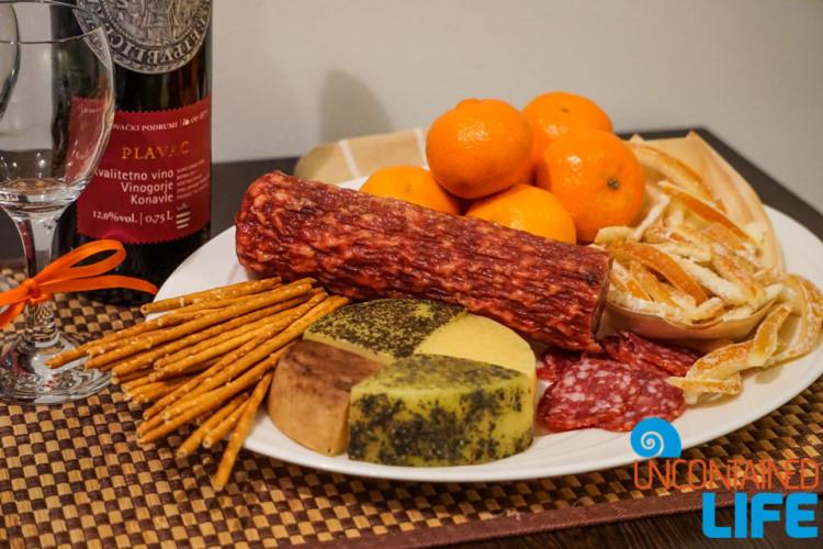 Cheese, Salami, Sugar Orange, Christmas in Dubrovnik, Croatia, Uncontained Life
