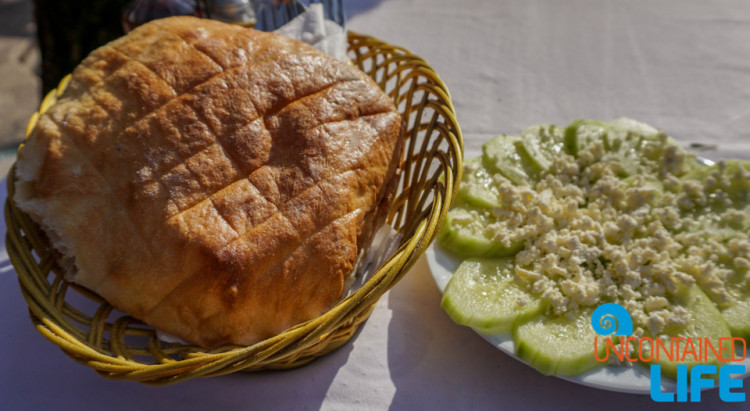 Bread, Cucumber salad, See and do in Podgorica, Montenegro, Uncontained Life