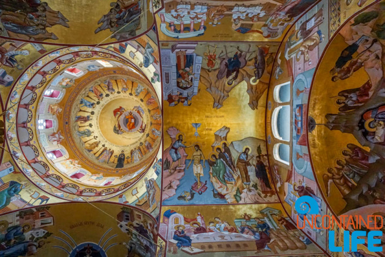 Ceiling Mural, Cathedral of the Resurrection of the Christ, See and do in Podgorica, Montenegro, Uncontained Life