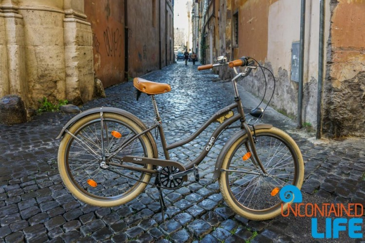 Roma Rent Bike, bike tour of Rome, Uncontained Life