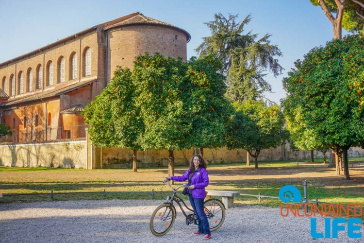 Orange trees, bike tour of Rome, Uncontained Life