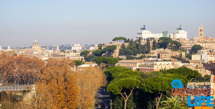 Viewing terrace, bike tour of Rome, Uncontained Life