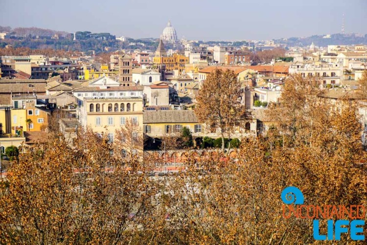 Best view, bike tour of Rome, Uncontained Life