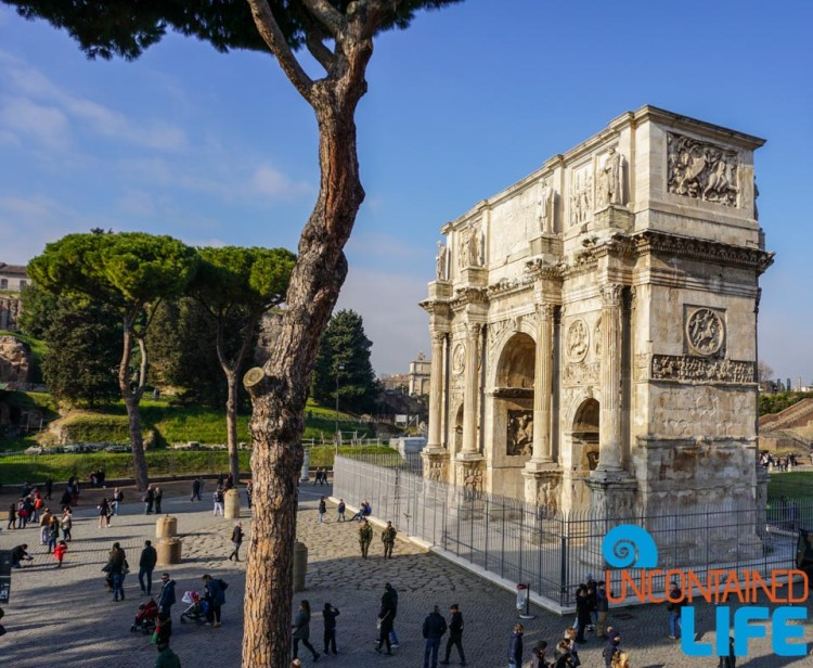 Arch of Constantine, bike tour of Rome, Uncontained Life