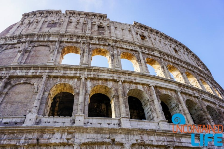 Colosseum, bike tour of Rome, Uncontained Life