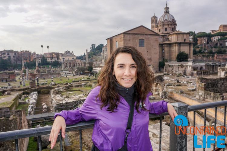 Ancient Ruins, archeology, bike tour of Rome, Uncontained Life