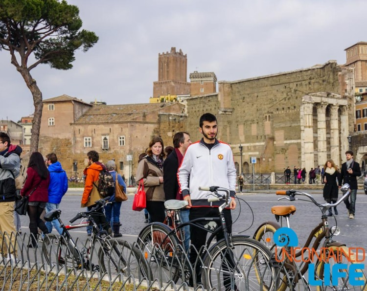 bike tour of Rome, Uncontained Life