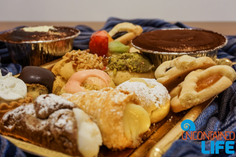 Italian Pastries, Save money on food while traveling, Uncontained Life