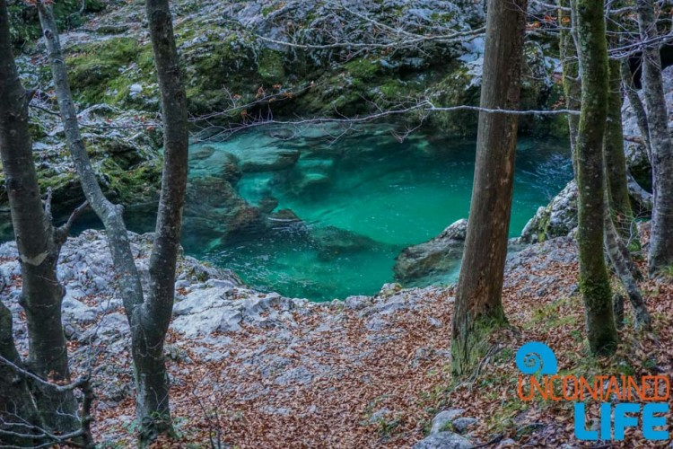 Natural Pool, Hiking Mostnica Gorge, Slovenia, Uncontained Life