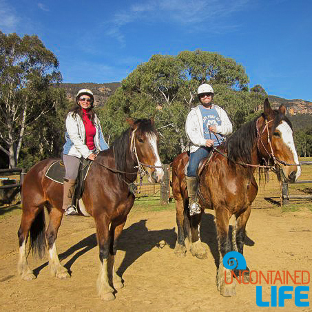Australia, Horseback riding, Traveling as a Couple, Uncontained Life