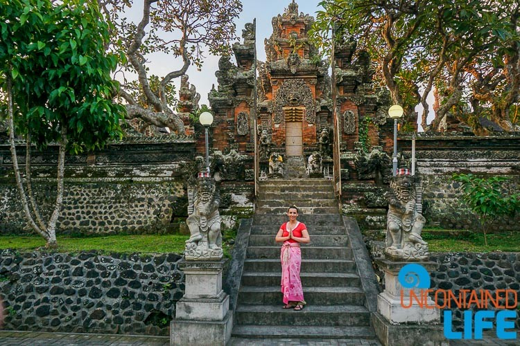 Bali, Indonesia, Hindu Temple, Traveling as a Couple, Uncontained Life