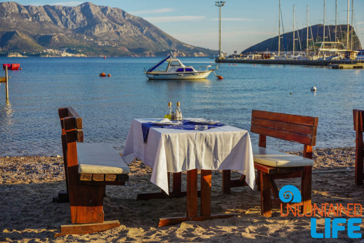 Beachfront Restaurant, Old Town Budva, Montenegro, Uncontained Life