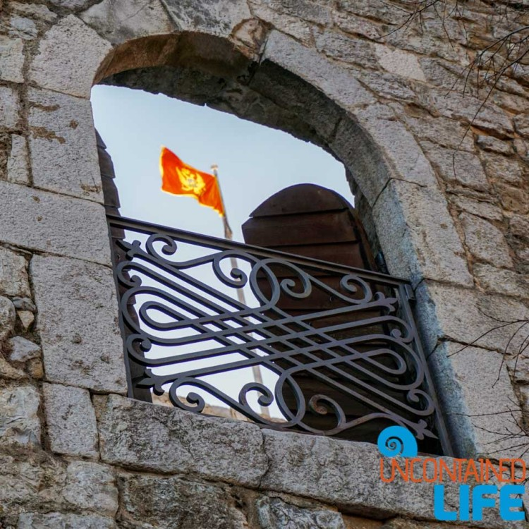 Flag, Old Town Budva, Montenegro, Uncontained Life