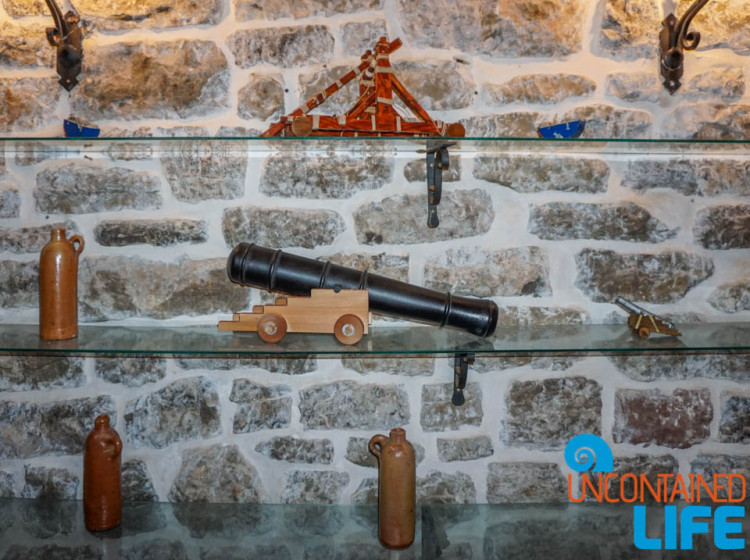 Miniature Ancient Weapons, Old Town Budva, Montenegro, Uncontained Life