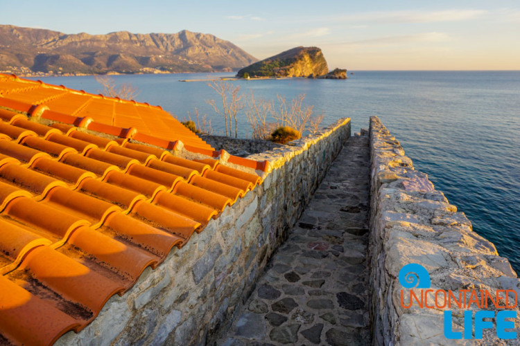 Rooftop, Nikola Island, Old Town Budva, Montenegro, Uncontained Life