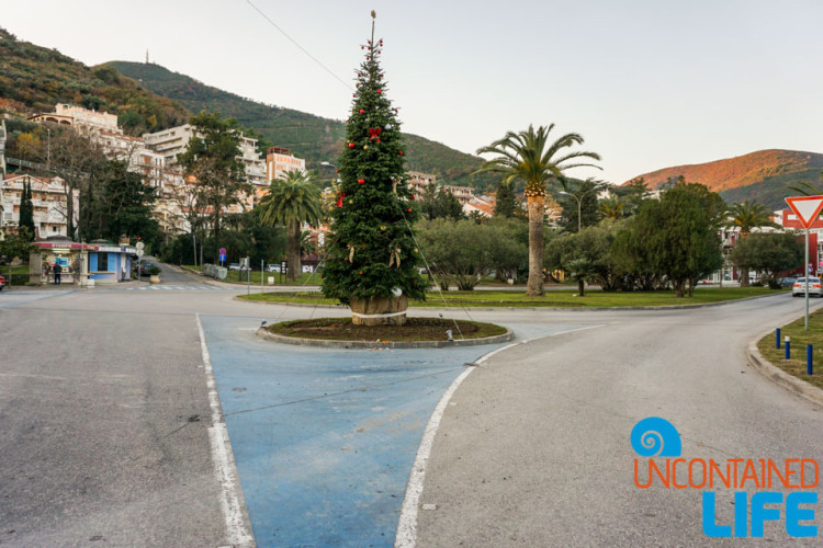 Christmas Tree, Old Town Budva, Montenegro, Uncontained Life