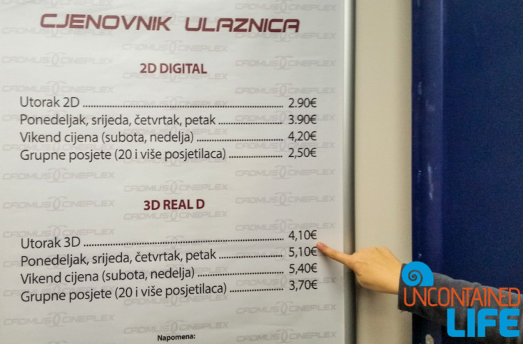 Star Wars 3D, Budva, Montenegro, Movie Theater, going to the movies in Montenegro, Uncontained Life