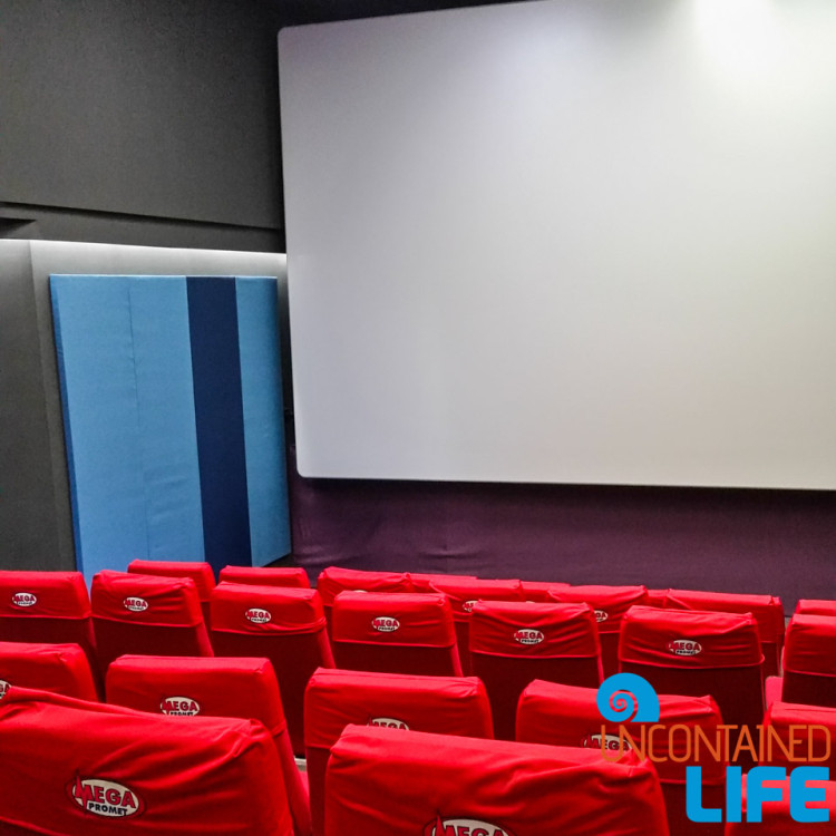 Movie Theater, going to the movies in Montenegro, Budva, Uncontained Life