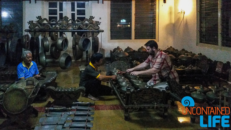 Jogjakarta, Indonesia, Gamelan, Traveling as a Couple, Uncontained Life
