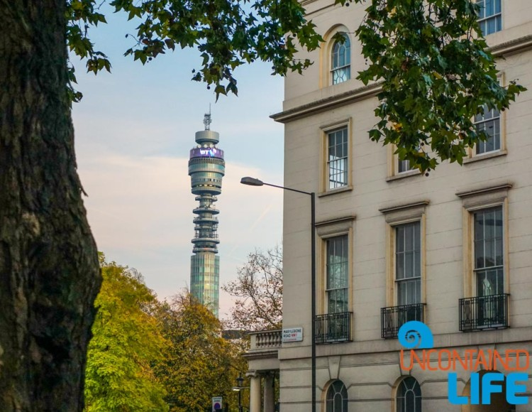 BT Tower, Buildings in London, England, Uncontained Life