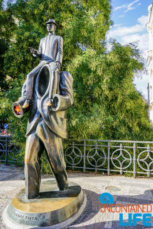 Franz Kafka Sculpture, Beautiful photos of Prague, Czech Republic, Uncontained Life