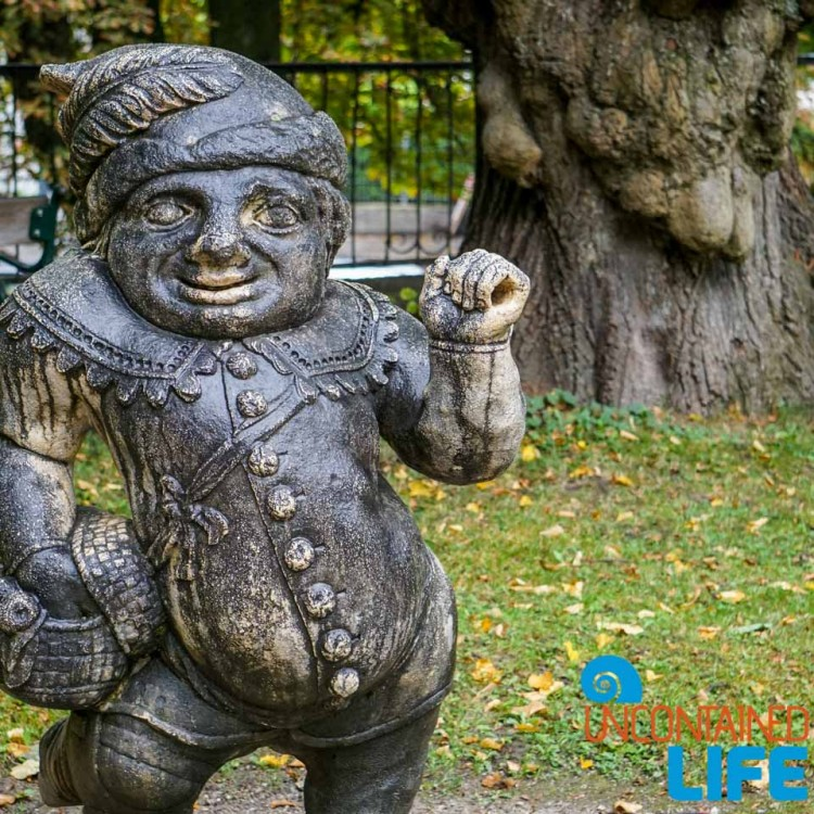 Gnome Sculpture, Day in Salzburg, Austria, Uncontained Life