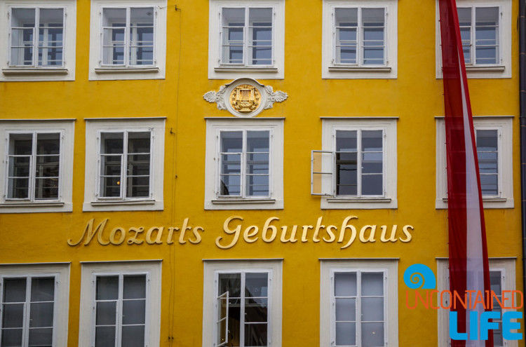 Mozart Birth Home, Day in Salzburg, Austria, Uncontained Life