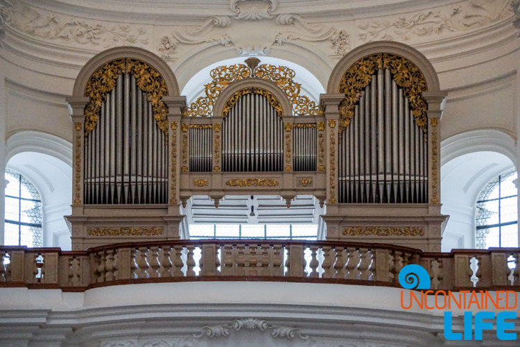Collegiate Church, pipe organ, Day in Salzburg, Austria, Uncontained Life