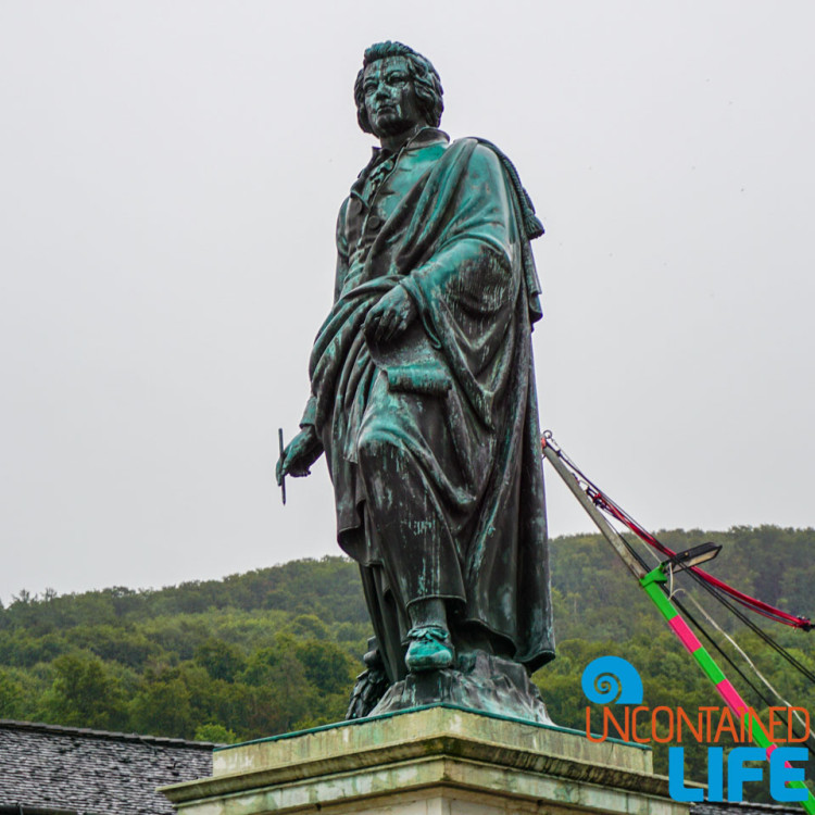 Mozart Statue, Day in Salzburg, Austria, Uncontained Life