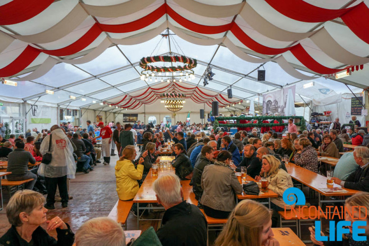 Festival Tent, Day in Salzburg, Austria, Uncontained Life