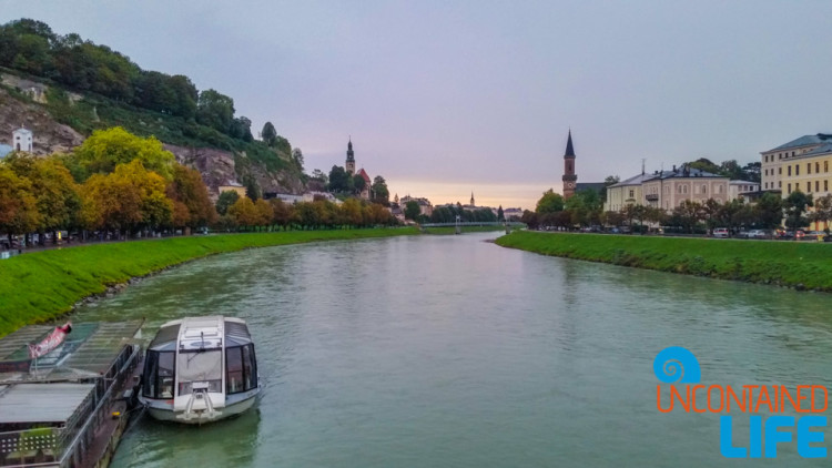 Salzac River, Day in Salzburg, Austria, Uncontained Life