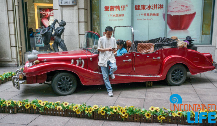 Retro Car, 24 Hours in Shanghai, China, Uncontained Life