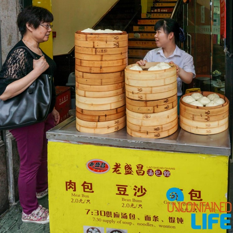 Steamed Pork Bun Stand, 24 Hours in Shanghai, China, Uncontained Life