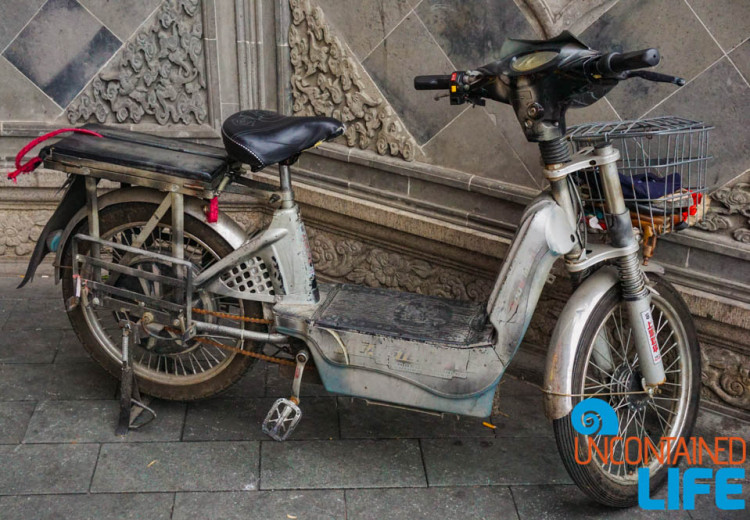 Vintage Motor Bike, 24 Hours in Shanghai, China, Uncontained Life