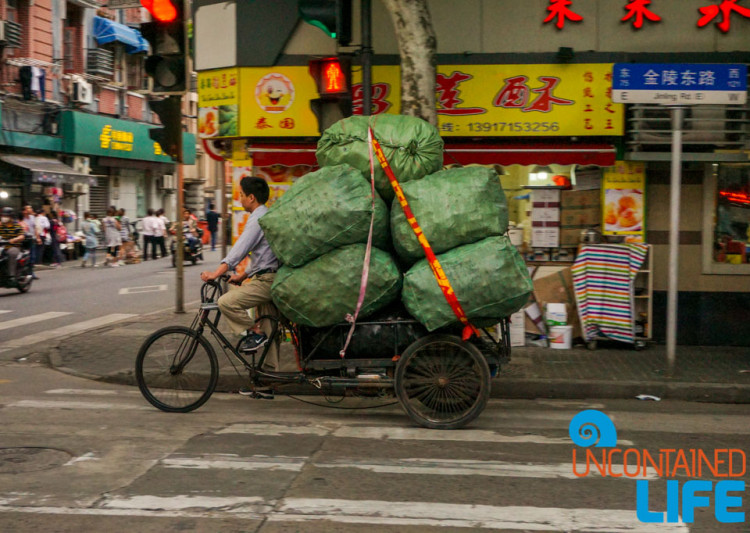 Delivery Bike, 24 Hours in Shanghai, China, Uncontained Life