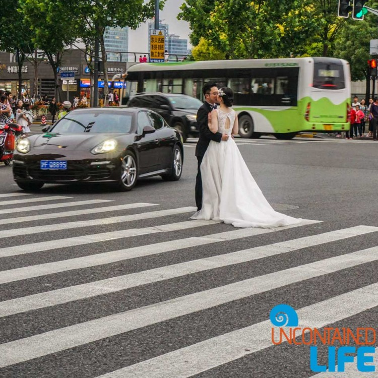 Wedding Photograph, Porsche, street, 24 Hours in Shanghai, China, Uncontained Life