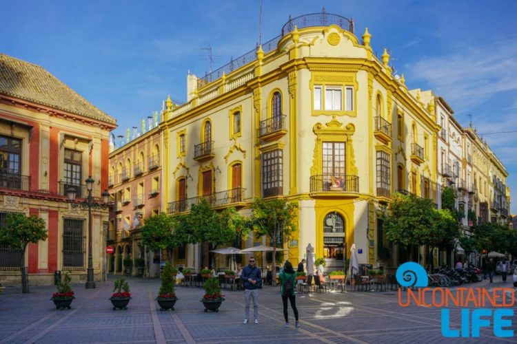 Plaza de Triunfo, Beautiful Places in Seville, Spain, Uncontained Life